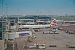 Schiphol机场外部 免版税库存图片