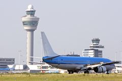 Schiphol airport. In the Netherlands Royalty Free Stock Image