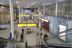 Schiphol Airport, Amsterdam, Netherlands. Royalty Free Stock Photos
