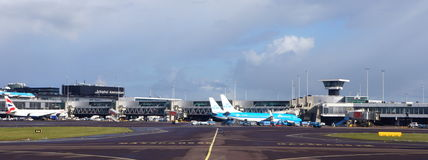 Schiphol airport, Amsterdam, the Netherlands Royalty Free Stock Photo