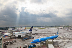 Schiphol airport view Stock Image
