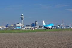 Schiphol Amsterdam flygplats Royaltyfria Foton