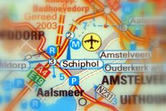 Schiphol, Amsterdam Luchthaven Schiphol - Nederland Europa royalty-vrije stock foto