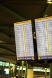 Schiphol arrival information Stock Image