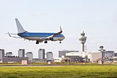 Schiphol-Flughafen in den Niederlanden lizenzfreie stockfotografie