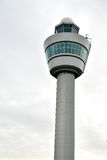 Schiphol-FlughafenKontrollturm in Amsterdam Stockfoto