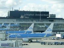 Schiphol flygplats, Amsterdam, Nederländerna Arkivfoto