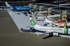 Schiphol flygplats - Madurodam, Haag, Nederländerna Arkivfoton