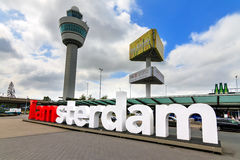 Schiphol IAMSTERDAM Photo stock