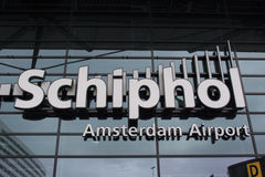 Schiphol international airport of Amsterdam Hoilland Stock Image