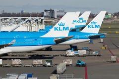 Schiphol KLM lotniskowy samolot Obraz Stock