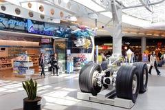 Schiphol lotniska wnętrze Zdjęcia Stock