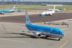 Schiphol lotnisko Obrazy Royalty Free