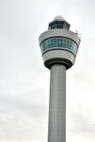 schiphol lotniskowa wieża kontrolna w Amsterdam Zdjęcie Stock