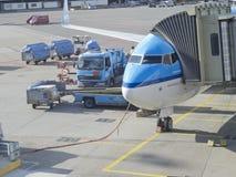 Schiphol Luchthaven, Amsterdam, Nederland Stock Foto's