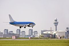 Schiphol luchthaven in Holland Royalty-vrije Stock Afbeelding