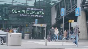 Schiphol placu wejście przy Schiphol lotniskiem zbiory