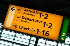 Schiphol sign Stock Photos