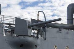 Schipkanon van de kruiser van de Baltische vloot royalty-vrije stock afbeelding