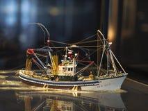Schipmodel in een museum royalty-vrije stock foto's