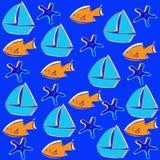 Schippatroon, vissen, overzees Royalty-vrije Stock Fotografie