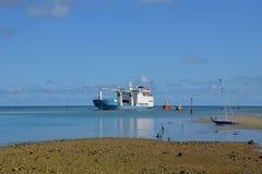 Schiprubriek voor de haven van Havenmathurin Stock Foto