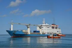 Schiprubriek voor de haven van Havenmathurin Stock Fotografie