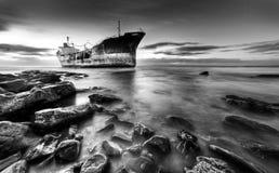 Schipwrak Zuid-Afrika stock fotografie