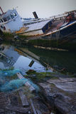 Schipwrakken Stock Foto's