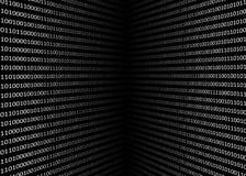 Schirm des binär Code 3D Stockbilder