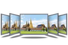 Schirm des Desktop-3D Stockfoto