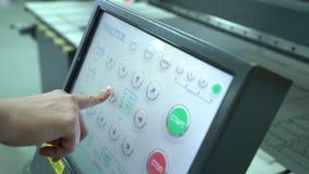 Schirm des Managements Bewegung des Wagens Touch Screen Die Einheit der Dateneingabe für Werkzeugmaschinen mit digitalem Manageme stock footage