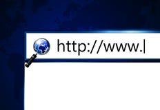 Schirm mit Adresszeile im web browser Stockfotografie