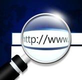 Schirm mit Adresszeile im web browser Lizenzfreie Stockbilder