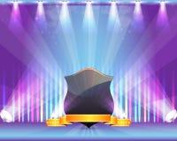 Schirmen Sie Farbband-Scheinwerferlicht-Thema-vektorauslegung ab Stockbild