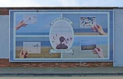 Schirmt so Wandgemälde in den Südschildern, in Tyne und in der Abnutzung ab Stockfotografie