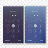 Schirmverschluß setzen Passwort Smartphonehintergrund frei vektor abbildung