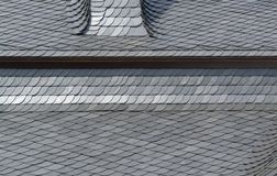 Schist tiled roof detail Stock Images