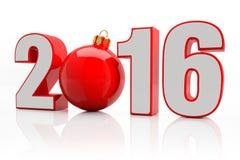 2016 - schitter bal - rood Stock Afbeelding