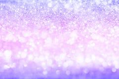 Schitter Bokeh-Purple Royalty-vrije Stock Afbeeldingen