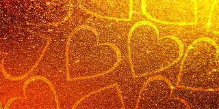 Schitter de dagliefde Valentijnskaarten van Achtergrondhartvalentine stock fotografie