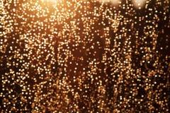 Schitter de feestelijke achtergrond van Kerstmislichten Royalty-vrije Stock Afbeeldingen