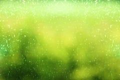 schitter groene uitstekende lichtenachtergrond defocused Royalty-vrije Stock Afbeeldingen