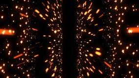 Schitter het Ruimte Kleurrijke Deeltje van de Komeetster Naadloze lijn stock illustratie