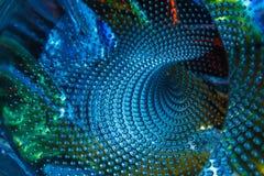 Schitter luchtbellen in het glas, abstracte textuur als achtergrond Royalty-vrije Stock Fotografie