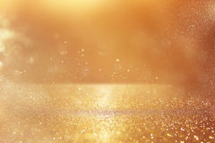 Schitter uitstekende lichtenachtergrond Goud en zilver stock afbeeldingen