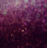 Schitter uitstekende lichtenachtergrond Wit en purple defocused Royalty-vrije Stock Afbeelding