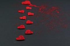 Schitter Valentine Hearts Royalty-vrije Stock Afbeelding