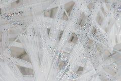 Schitter witte en zilveren achtergrond Stock Afbeelding
