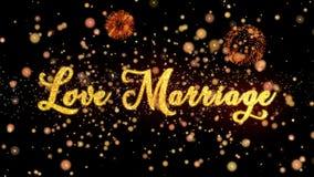 Schitteren de Abstracte deeltjes van het liefdehuwelijk en de kaart van de vuurwerkgroet vector illustratie